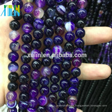 Venta al por mayor 4/6/8/10 / 12mm Natural Gems Stones Beads Jewelry Making Piedras Cuentas