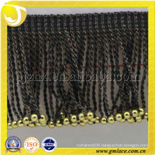 Hotel Hookless Bullion Fringe Curtain Shower High Quality Trimming