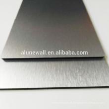 Painel decorativo de alumínio escovado