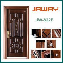 Puerta de seguridad de acero de superficie de cobre