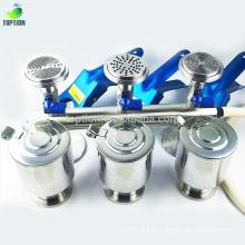 Equipo de filtración de solvente de 3 ramas con válvula de embudo SS316L