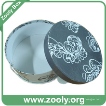 Printed Round Keepsake Gift Box / Decorative Paper Hatbox