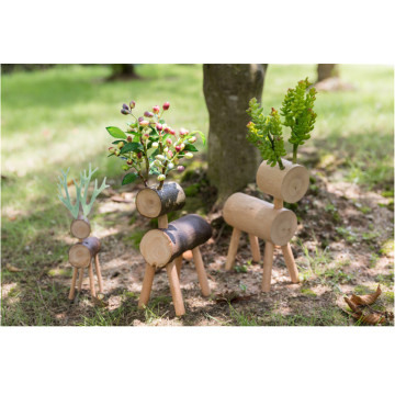 Wooden Christmas Deer Shelf Decoration
