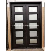 Puerta de aluminio con acabado suave y antioxidante