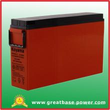 Batterie de gel de terminal 180ah 12V avant pour télécom