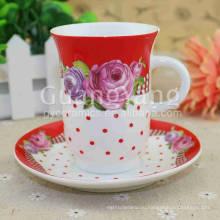 OEM и ODM Доступное фарфор эмалированные красные чашки для кухонной посуды, посуда и т. д.