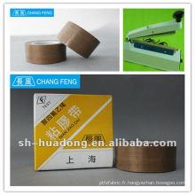 Haute étanchéité PTFE en fibre de verre ruban adhésif/tissus enduits pour fermeture de sac