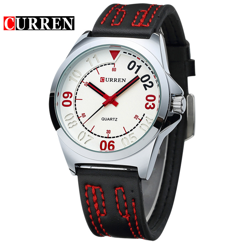 CURREN Fashion Leather Vogue Wrist Watches Men