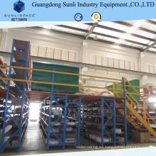 Almacén de almacenamiento de acero Estructura Rack Mezzanine piso con ISO / SGS