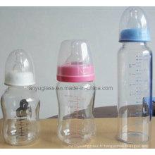Bouteilles de verre à l'eau de lait pour aliments pour bébés