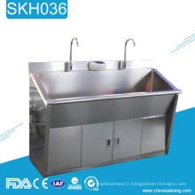 SKH036 évier de lavage médical en métal de robinet d'acier inoxydable avec des robinets inductifs