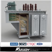 Controlador automático de compensación de potencia reactiva sumergida en aceite trifásico
