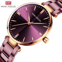 MINIFOCUS Relojes de mujer Reloj de acero simple para mujer