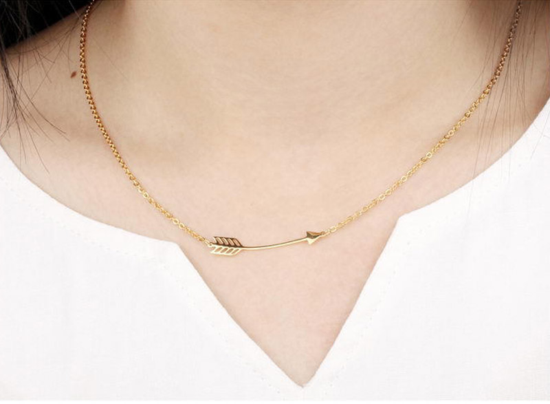 simple gold necklace