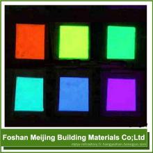 populaire mosaïque de verre Glow dans la poudre fluorescente sombre