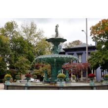 gran jardín de metal al aire libre artesanía de bronce fundición de agua escultura