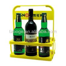 6 Flaschen Kunststoff Biergriff Korbform