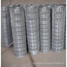 Clôture en bûche de terrain à grille métallisée à grille galvanisée en acier (anjia-529)