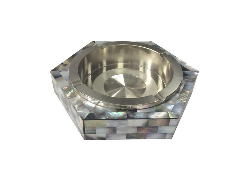 black mother of pearl ashtray