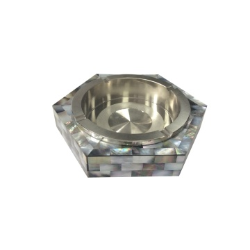 Handmade Black Mother of Pearl Ashtray