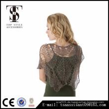Sparking Lace Blatt Schal hochwertige Mode-Stil für Dame Acryl Schal