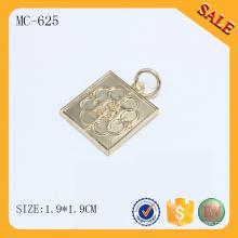 MC625 Gold metal hang logo for charm bracelet