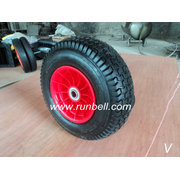 Pneumatic Rubber Casters Wheels with Rims (PR3010)