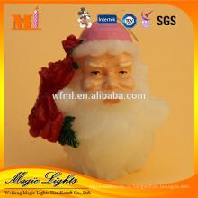 Рождественского случая и да свечу ручной работы Санта-Клауса