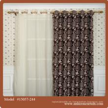 Jacquard Blackout Decoración Cortina Telas Diseño Privado Decoración para el Hogar Material Mariposa