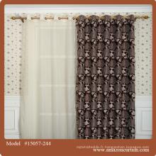 Jacquard Blackout Décoration Tissus rideaux Design privé Décoration intérieure Papillon