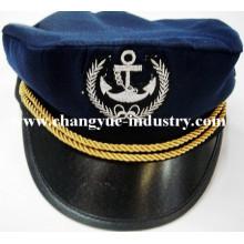 Navy marine cotton embroidery sailor captain cap hat