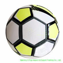 White Color PVC /PU / TPU Machine Stitched Soccer