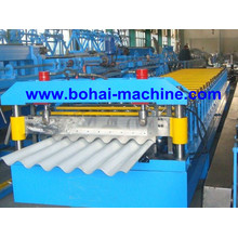 Hoja de acero ondulado Bohai laminado en frío que forma la máquina