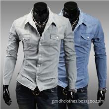 100% Cotton Jean Shirt for Men