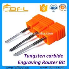 Fabrication de forets de gravure longue de forme de carbure de tungstène V de BFL