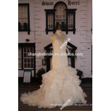 Свадебные 2016 Горячая Распродажа Персонализированные Органза Русалка Свадебные Платья