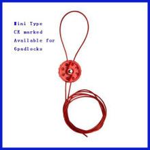 ABS Material Económico Mini Tipo Bloqueo del cable de seguridad con marcado CE