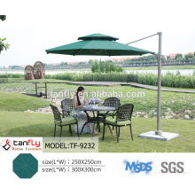 outdoor big square 4 x 4m aluminum patio umbrella
