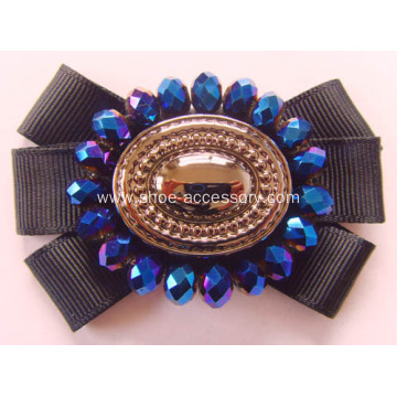 Women Black Camellia Flower Shoe Clips Fashion Ornaments