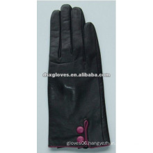 Sheep Skin Leather Glove with button on the wrist