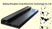 indoor or semi-outdoor aluminum profile 9025 with a strength rib for led moving message sign