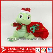 Heißer Verkauf netter und angefüllter Plüsch-Schildkröte spielt für Weihnachtstag