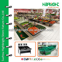 supermarket fruits and vegetables storage rack