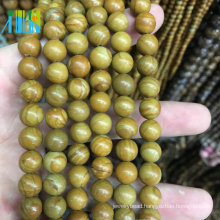 Cheap Wholesale Gemstone Natural Wooden Line Jasper Natural Stones Jewelry Men's Bead Bracelet