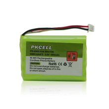 Batterie rechargeable sans fil de la batterie 600mah 3.6V Nimh AAA de téléphone rechargeable