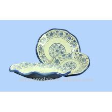 NOUVELLE Plaque en feuilles de lotus en céramique avec style classique de Chine pour BS-H0015