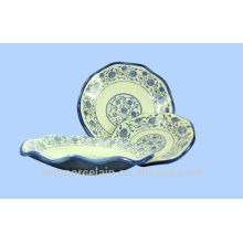 NEW Ceramic Lotus Leaf Plate with Classical Style of China for BS-H0015