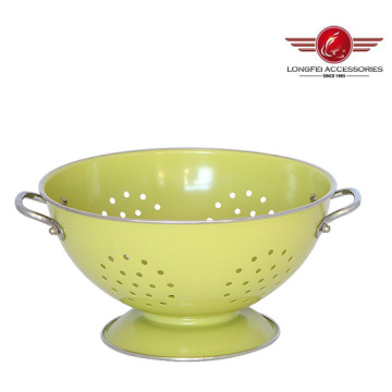 Metal Round High Quality Fruit Basket Bowls with Colorful Painting