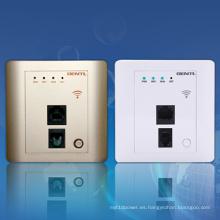 150Mbps de alta velocidad en el puerto de enrutador inalámbrico de pared 2 para habitaciones de hotel, Ap WiFi de hotel, enrutador inalámbrico Metope incorporado