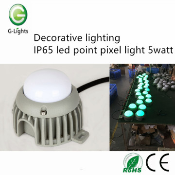 Éclairage décoratif IP65 led point pixel light 5watt